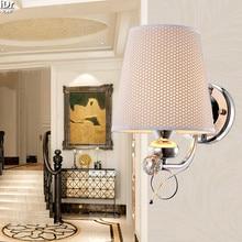 Охватывает Современный Континентальный Железный спальня ночники бра гостиной лампа проходу лестницы Настенные Светильники Rmy-0293