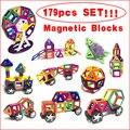 179 unids magnética bloques de construcción para niños juguetes educativos ladrillos enlighten juguete de diseño cuadrado triángulo hexagonal 3d diy