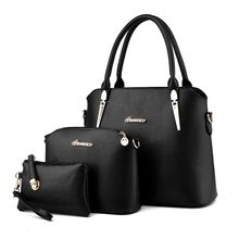 Hanup Nuevo 2016 Mujeres Bolso de Cuero Bolsos de Las Mujeres Bolsos Ocasionales de Las Señoras Diseños de Marca Bolso + Messenger Bag + Bolso 3 Sets