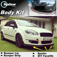 Bumper Lip Deflector Lips For Fiat Linea Front Spoiler Skirt For TopGear Fans to Car View Tuning / Body Kit / Strip