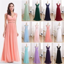 Evening-Dresses Ever Pretty Navy Formal Elegant White Blue Women Sleeveless New V-Neck