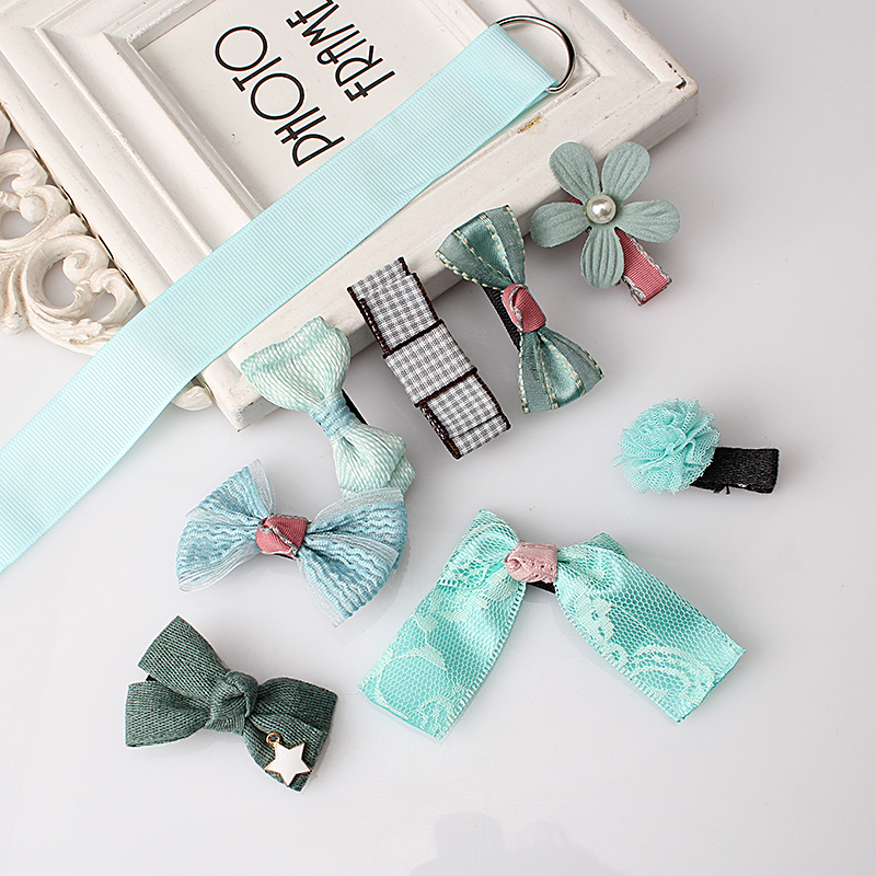 M MISM 1Set = 8pcs Grils Lovely Bow Flower Hair Accessories Set - Accesorios para la ropa - foto 4