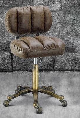 Lift beauty chair. Flameproof iron wheel beauty stool. High bench hair stool. Makeup stool 240337 ergonomic chair quality pu wheel household office chair computer chair 3d thick cushion high breathable mesh