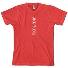Faction Symbols - Mens T-Shirt- S-XXL Human Virtues 10 Colours Free UK P+PMans Unique Cotton Short Sleeves O-Neck T Shirt
