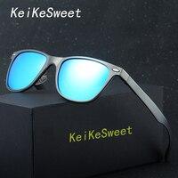KeiKeSweet Hot Fashion Men Women Driving Car HD Polarized Rivet UV400 Sunglasses Flexible Brand Designer Ce