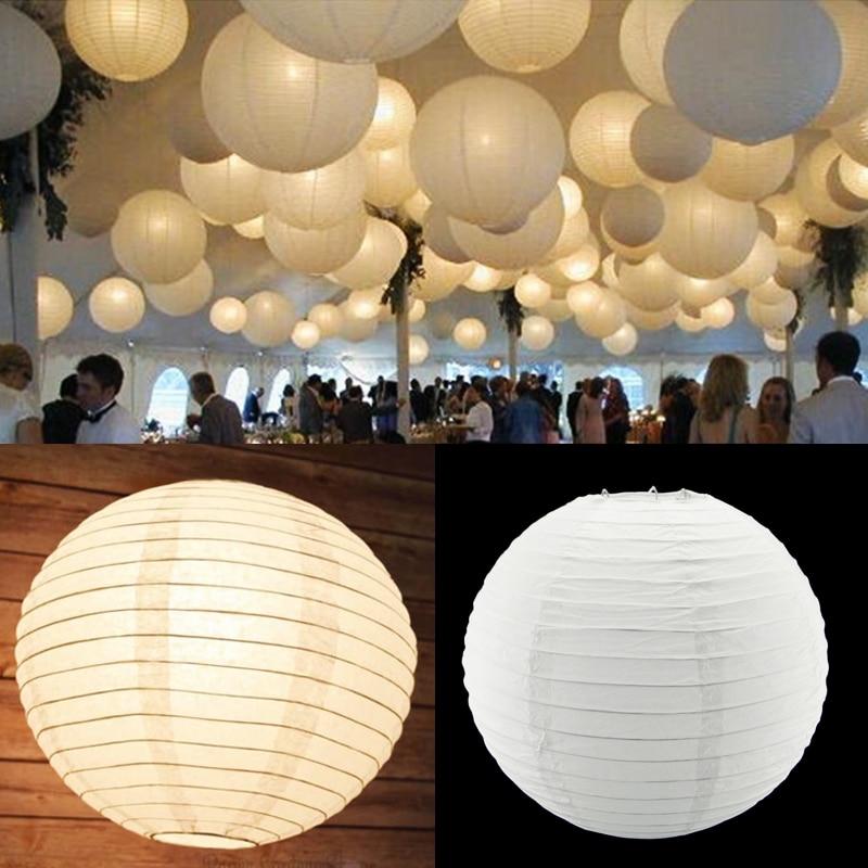 5PCS Hot LED Light White Balloon Hanging
