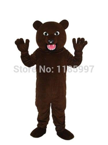 Offre spéciale accepter ours brun noir personnalisé avec dent forte Halloween mascotte Costume fantaisie robe Animal livraison gratuite