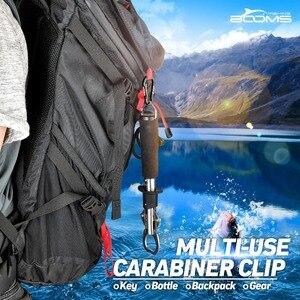 ازدهار الصيد CC1 6 قطعة سبائك الألومنيوم حلقة تسلق المفاتيح في الهواء الطلق التخييم تسلق مشبك خاطف قفل مشبك هوك الصيد أداة 6 اللون