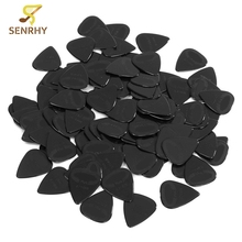 Lots of 100Pcs Black Acoustic Guitar Picks Celluloid Heavy 0.71mm Plectrums Musical Instrument Guitar Parts Accessories