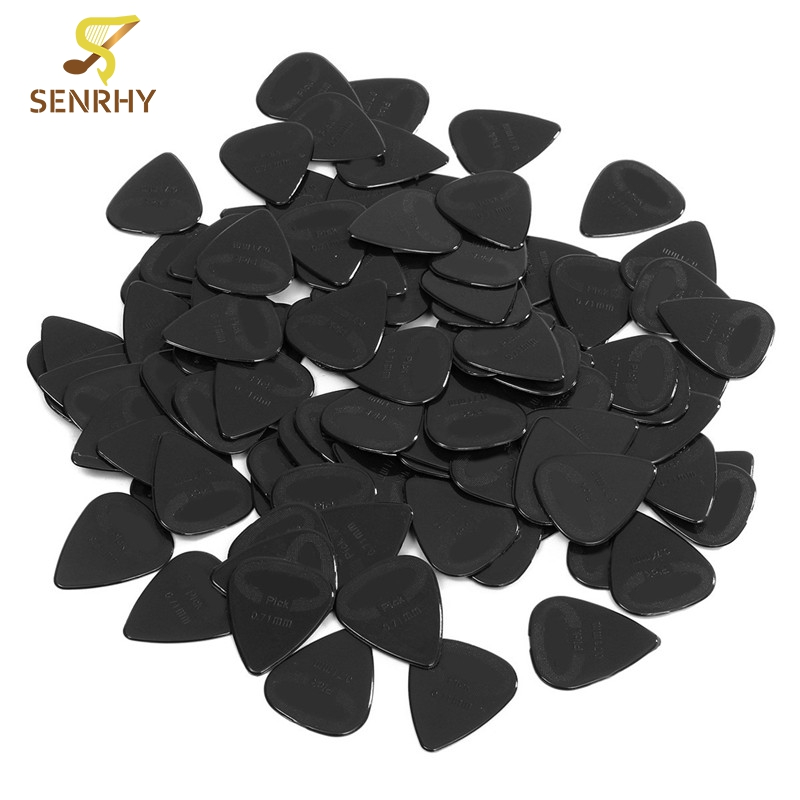 Lots of 100Pcs Black Acoustic Guitar Picks Celluloid Heavy 0.71mm Plectrums Musical Instrument Guitar Parts Accessories lehiste bibliotheca phonetica some acoustic characteristics of dysarthric speech