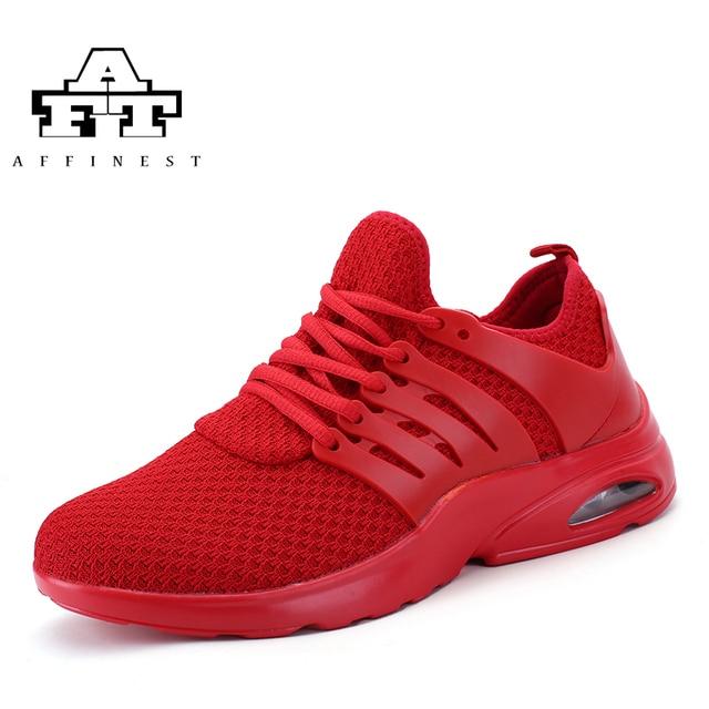 brand new 837a8 019c9 AFFINEST Sport chaussures hommes course élastique rouge noir Tn basket Air  coussin athlétique formateur Sport entraînement