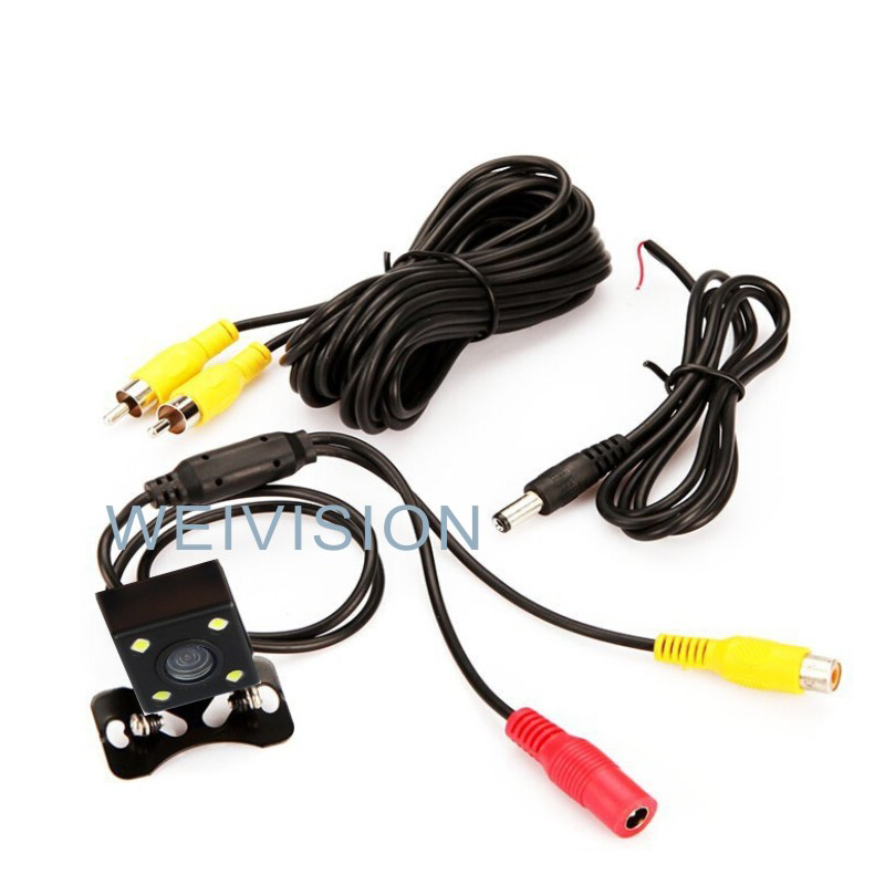 Universal Night Vision colorful Car Rear View Camera for all car with 4LEDs KTWG