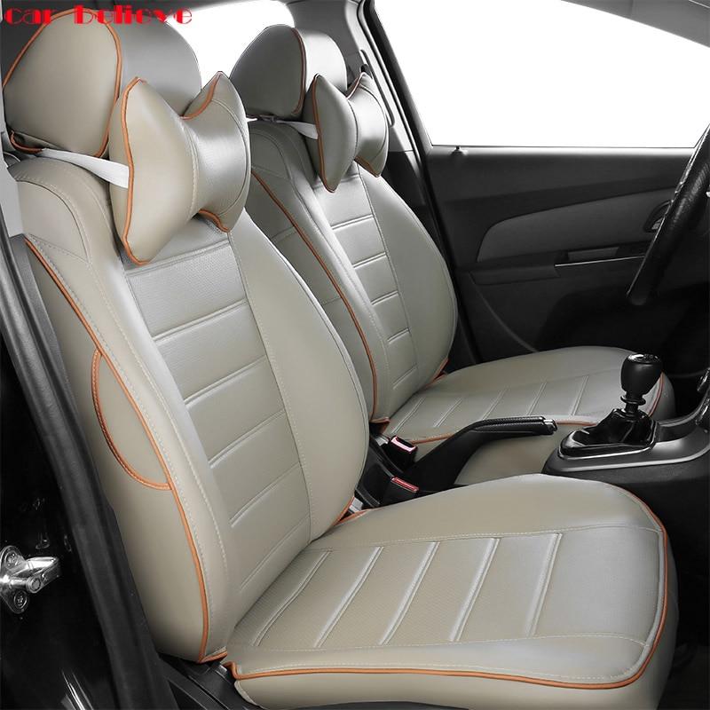 Voiture Croire Auto automobiles En Cuir housse de siège de voiture Pour Nissan x-trail t31 T32 Tiida Juke Teana Qashqai J10 murano accessoires
