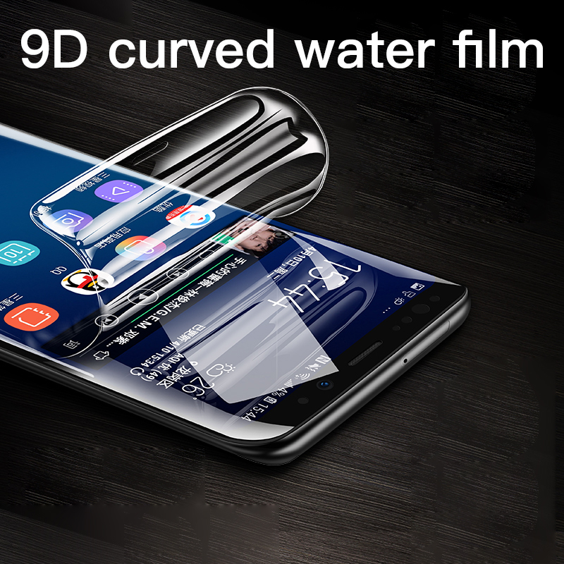 9D Full Cover Soft Hydrogel Film For Samsung Galaxy Note 10 9 8 S8 S9 S10 E Plus Screen Protector For Samsung S7 Edge Not Glass