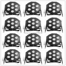 12 шт./лот СВЕТОДИОДНЫЕ Роскошные DMX 8 Каналов Led Плоским Пар Свет 7×12 Вт RGBW 4IN1 высокое качество заводской непосредственно продажи