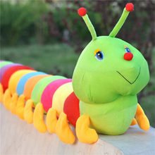1 Piece Colorful Caterpillars Millennium Bug Doll Plush Toys Baby Kids Large Caterpillar Hold Pillow Doll(China)