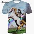 Raisevern New Unicorn 3D T-shirt Rainbow Unicorn Cat Battles 3d T Shirt Harajuku Summer Top Fashion Fitness Tops Tee