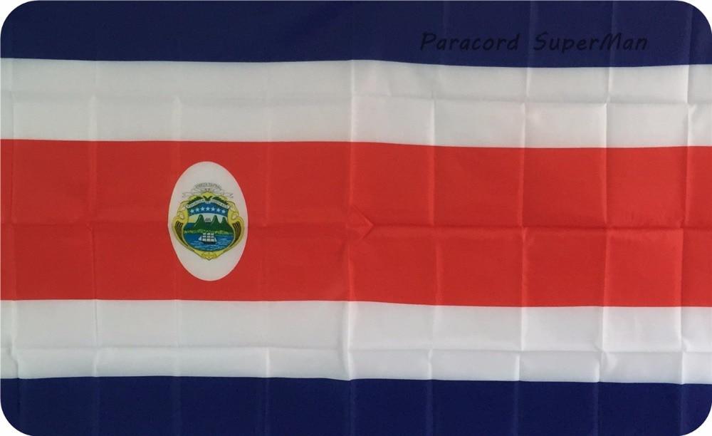 CRC FLAG BANNER 3 x5ft Կախովի պոլիեսթեր Կոստա Ռիկա պաստառով Դրոշ 150x90 սմ տոնակատարության Աշխարհի գավաթի / գործունեության համար / Գլխավոր