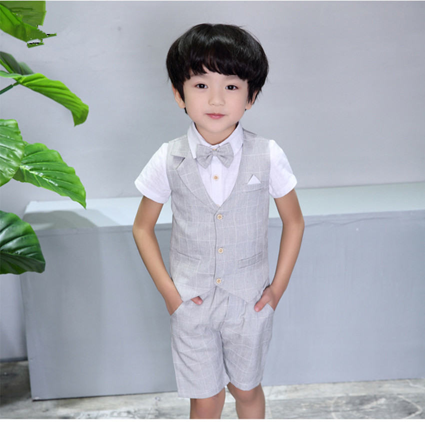 Baby Boy Clothes 2017 Summer Baby Boys Clothes 3 Pcs Suits Cotton Baby Costumes Suit Solid Kids Vest  Infant Clothes Set 2pcs set baby clothes set boy