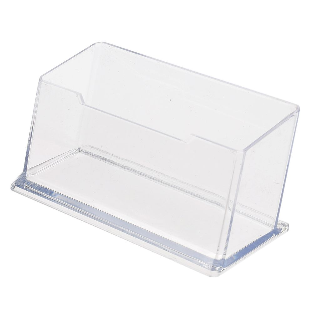 Fashion Acrylic Clear Desktop Business Card Holder Stand Display Dispenser Office Tools
