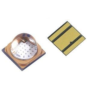 10 pçs 3 w 10 led smd3535 6565 chip uv 365nm 395nm luz de alta potência grânulo base cerâmica quartzo lente vidro médica frete grátis