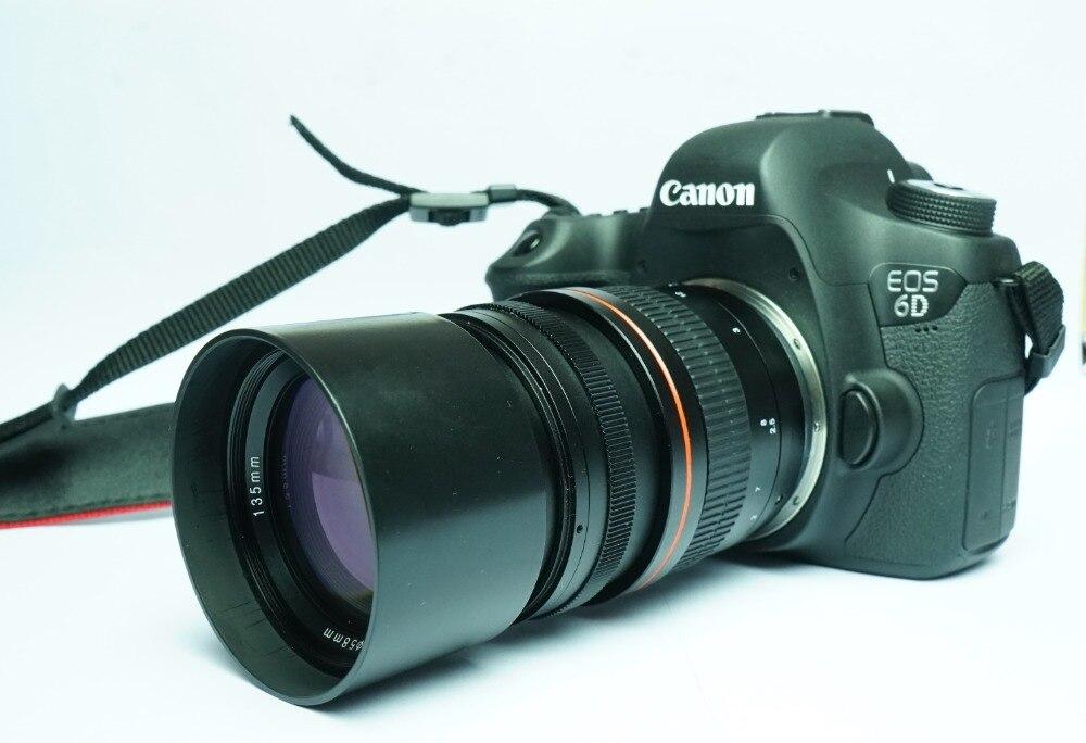 Objectif à focalisation fixe 135mm F2.8 plein format objectif Ed à Dispersion Ultra faible pour appareils photo Canon 80D, 70D, 60D, 60Da