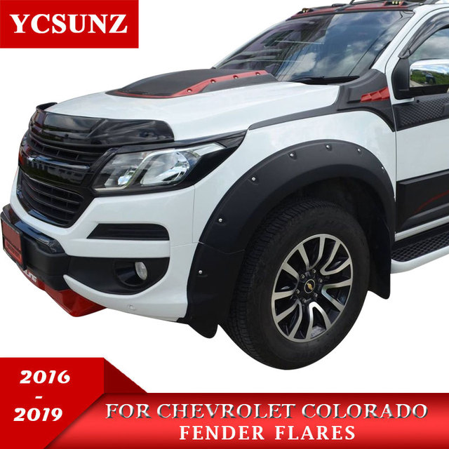 2017 Fender Flare For Chevrolet Colorado 2016 2019 Accessories Black Color Mudguards