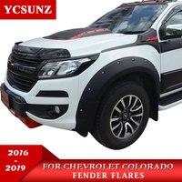 2017 Fender Flare For Chevrolet Colorado 2016 2019 Accessories Black Color Mudguards For Colorado 2016 2019 Flares YCSUNZ