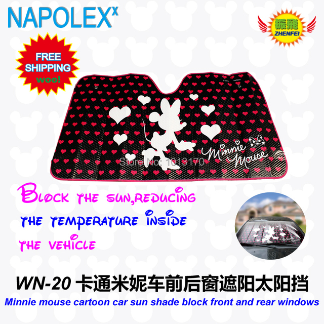 accessories Cartoon minnie mouse front window sunshade Foils Windshield Visor Cover UV Protect Car window Film sun shade  WN-20