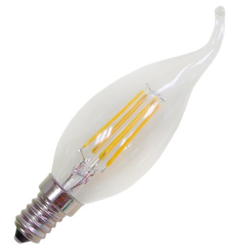 4W LED Energy Saving Filament Candle Light Candelebra Light Bulb - 2700 K Warm White - Most Similar To Incandecent Bulbs - 35,00