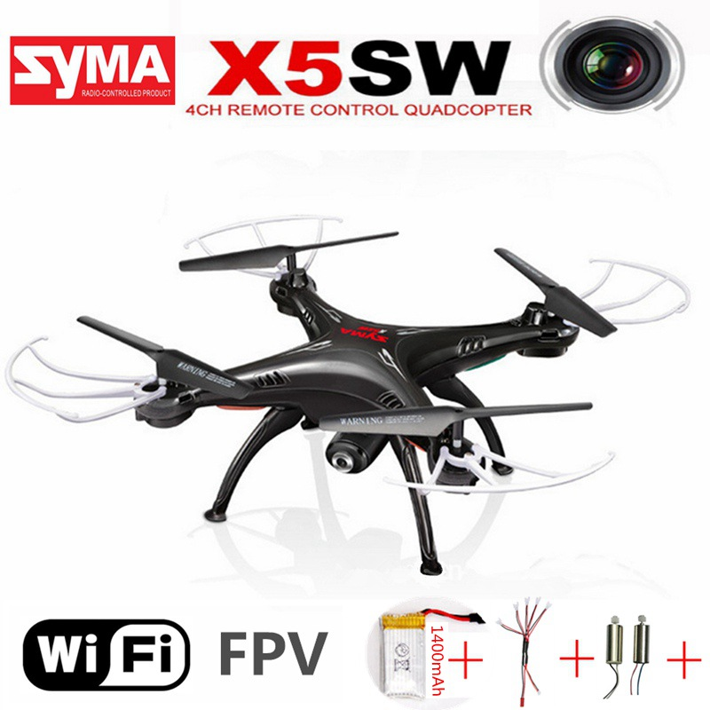 Original Syma X5sw Rc Quadcopter With Camera Fpv Drone Headless 6-axis Real Time Rc Helicopter Wifi Quadcopter Toys For Children rc drones quadrotor plane rtf carbon fiber fpv drone with camera hd quadcopter for qav250 frame flysky fs i6 dron helicopter