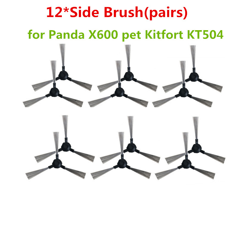 10 Pcs Side Brush For Panda X600 Pet Kitfort Kt504 X600pro Robotic Robot Vacuum Cleaner Parts Home Appliance Parts