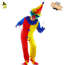QLQ Funny Performance Clown Halloween Party Dress Cosplay Man Tuxedo Costumes