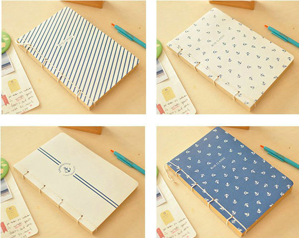 D32 312 New Vintage cool Navy style design thick notebook/DIY Travel ...