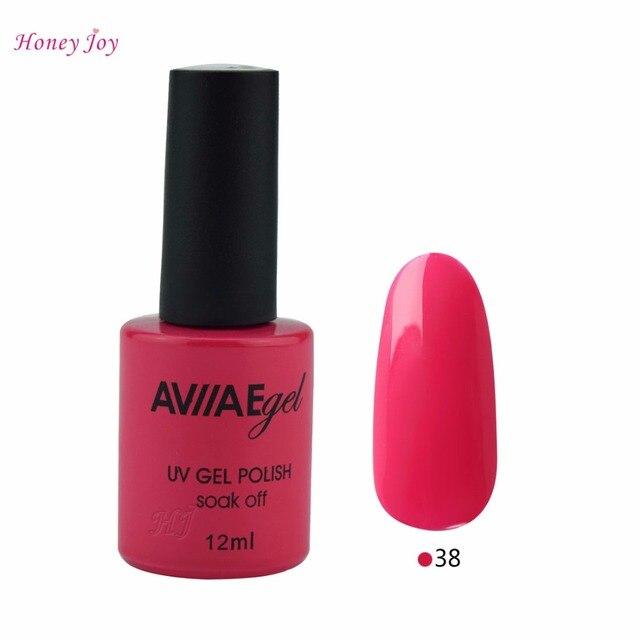 AVIIAE Coral Red Color Gel Nail Polish Long Lasting Soak off LED UV ...