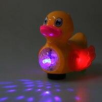Baby Electronic Yellow Plastic Duck Kids Electric Flashing LED Light Duckling Children Developmental Music Toy