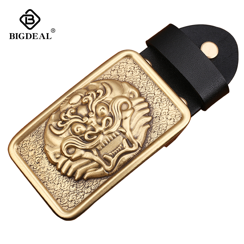 Wholesale Brand High Quality Solid Brass Belt Buckle Men&Women Brass Smooth Buckles For Band Width 3.8cm Belt Accessories Gift