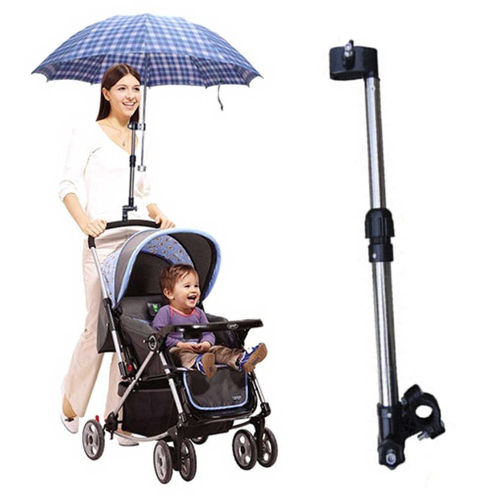 รถเข็นเด็กทารกปรับได้ร่มผู้ถือจักรยาน Pram รถเข็นขาตั้ง Bracket Bar hot