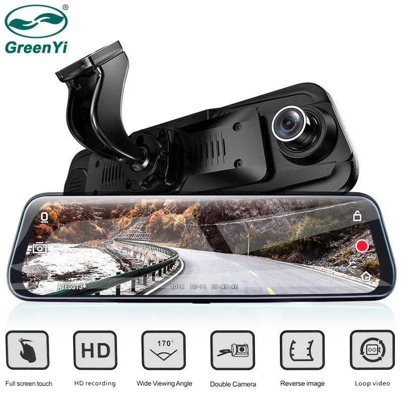 GreenYi Car DVR Camera 9 68 IPS Rearview Mirror Monitor Full HD 1080P Night Vision Dash