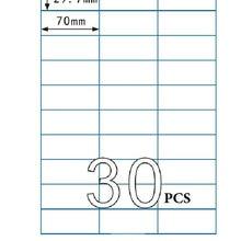 100 листов А4 стикер 70X29,7 мм 30 шт. в одном листе А4 самоклеющиеся Стикеры А4 печать адресная этикетка для струйного лазерного принтера