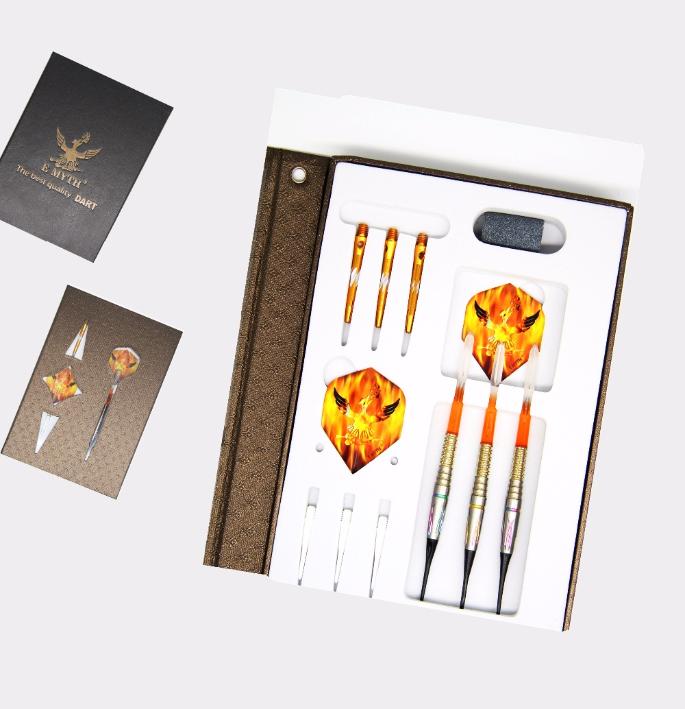 Colorful high quality tungsten darts, E MYTH darts, 19g soft tip tungsten barrel game darts legering metalen wapen model draaibaar darts cosplay props voor collectie fidget spinner hand anti stress