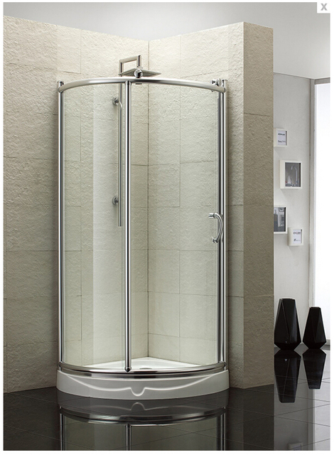 2019 New Design Wholesale Shower Cabins Clear Tempered Glass Shower Screen  Shower Enclosure With Sliding Door XA900H 2