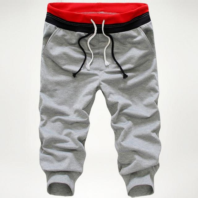Ligero Becerro de Longitud Pantalones Harem Hombres Pantalones Masculinos Pantalones Casuales pantalones de Chándal Basculador Chándal Cordón Flojo A50