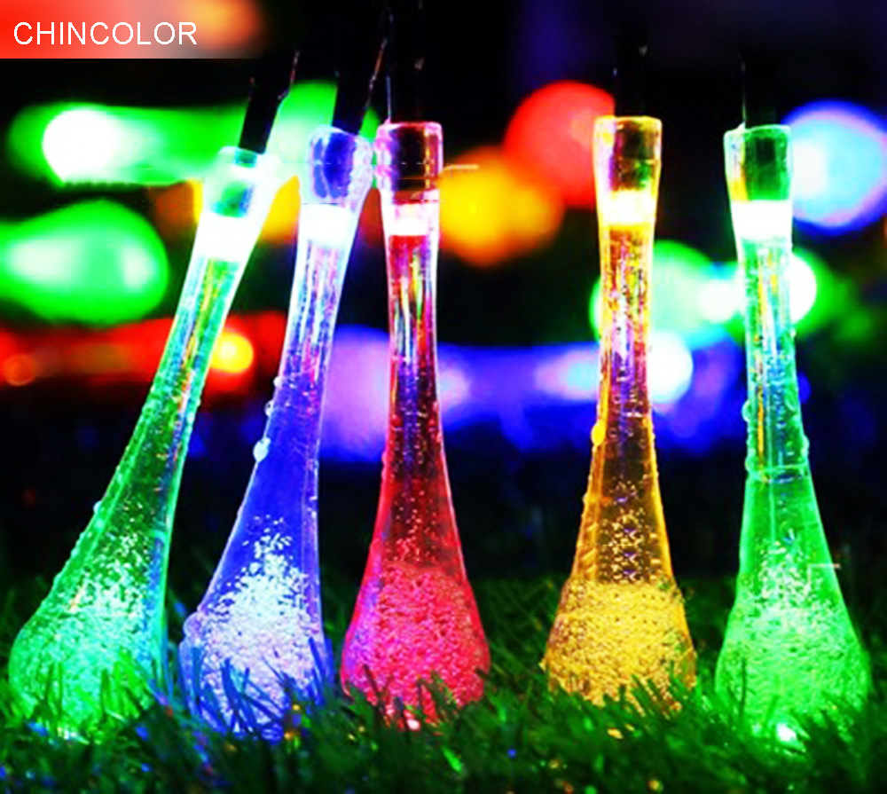 Water droplets Holiday lights Multicolor Led Light string Batterty Operated Xmas christmas Garlands fairy wedding