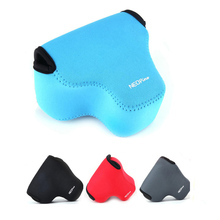 Неопрен Мягкие Камера сумка для Canon EOS M5 M50 с 15-45 мм защитная крышка объектива Портативный мешок ultra light