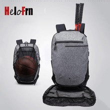 HeloFrn Sport Backpack Male Basketball Bagpack Waterproof USB Charging Canvas For Men Laptop Bag Teenagers College