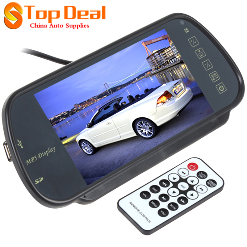 Sales Car Rearview Mirror Monitor 7 inch for Rear View Camera Supports SD USB Port Car