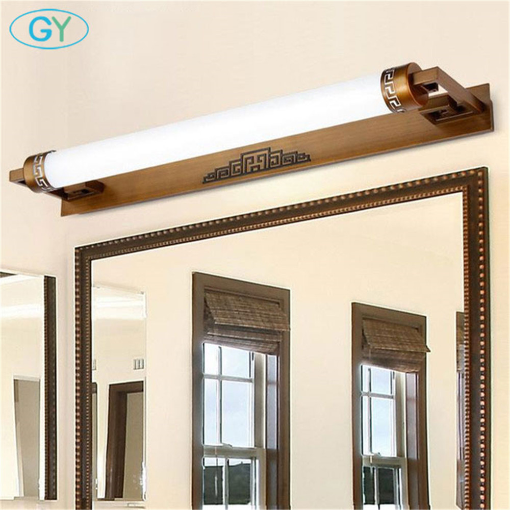 Chinese mirror front light led mirror lamp wall lamp make-up lamp bathroom indoor lighting fixtures cabinet lights wall art modern led bathroom light stainless steel led mirror lamp dresser cabinet waterproof sconce indoor home wall lighting fixtures