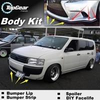 For TOYOTA Probox Pro Box 2002~2015 Bumper Lip / Front Spoiler Deflector For TG Fans Car Tuning / TOPGEAR Body Kit / Strip Skirt