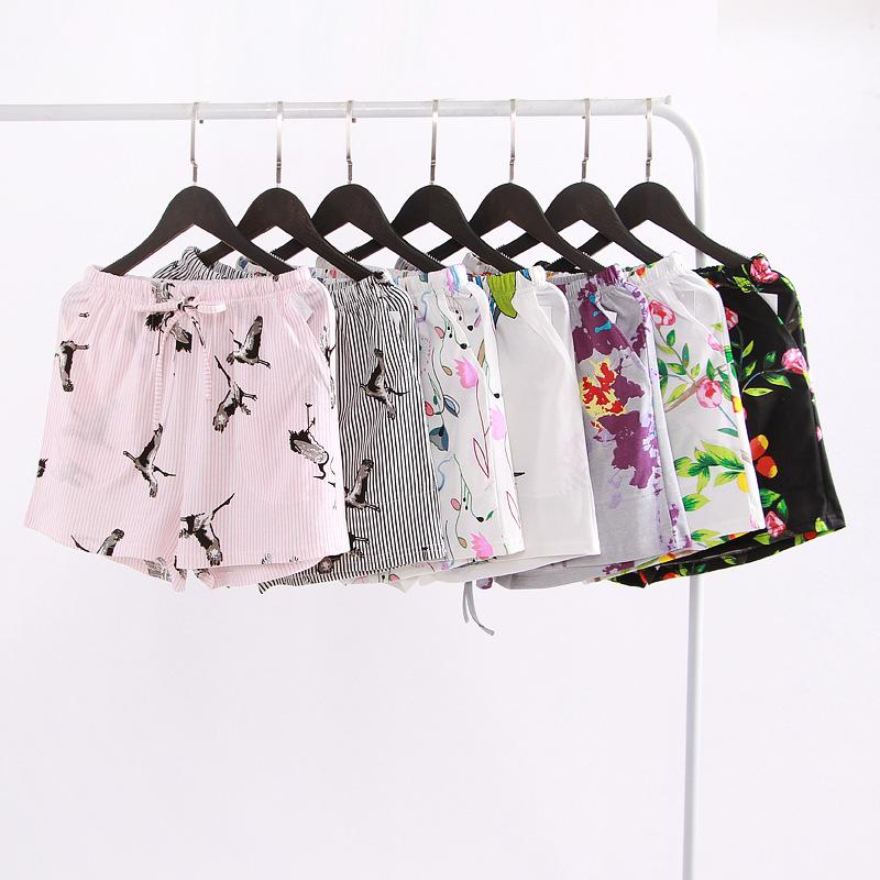 2019 Neuer Stil 2018 Sommer Neue Damen Shorts Mode Lässig Elegante Schlaf Hose 100% Baumwolle Gaze Große Größe Hause Hosen Freizeit Kurze Hosen Mangelware Schlafhosen